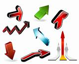 3d arrows - set