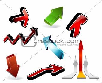 3d arrows - set