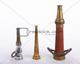 Antique fire nozzles