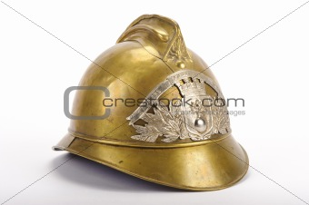 Antique French fire helmet