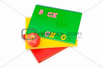 Back to school concept with book and apple