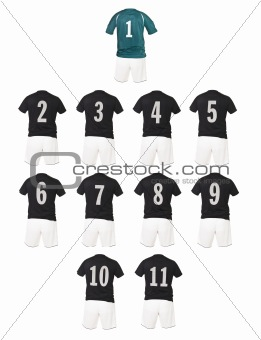 Black Football team shirts