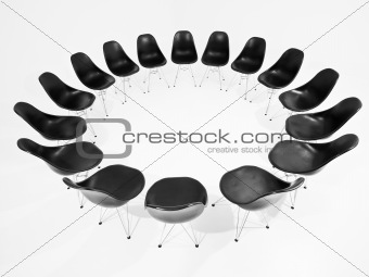 Black Chairs in a circle