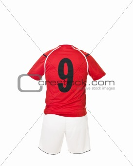 Football shirt with number 9