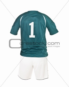 Football shirt with number 1