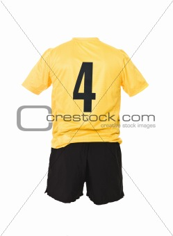 Football shirt with number 4