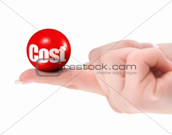 Cost concept on finger