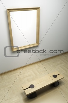 blank frame in the gallery