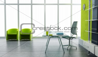 modern office interior 3d