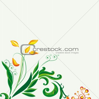 Fairy floral background