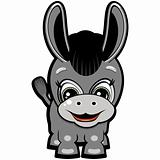 Little donkey - smiling cartoon for your design