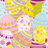Seamless easter eggs background