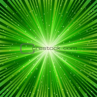 green ray of a star