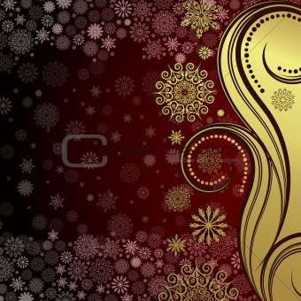 Abstract christmas background. Vector Illustration