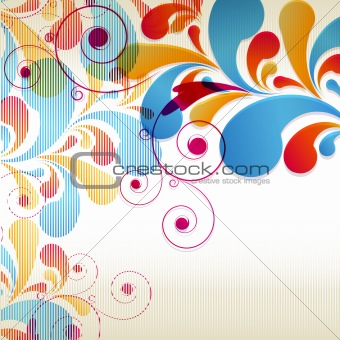 Abstract Curls background for design