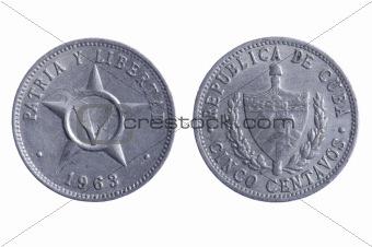Cuba coins close up