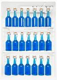 Bottles in a fridge
