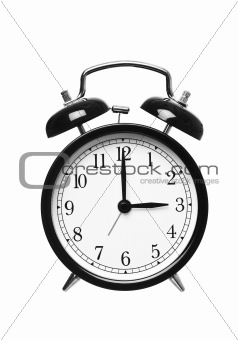 Alarm clock shows Three o`clock