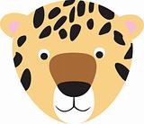 leopard or cheetah cartoon face