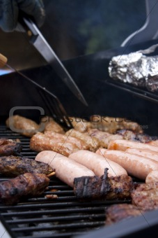 summer barbeque close up