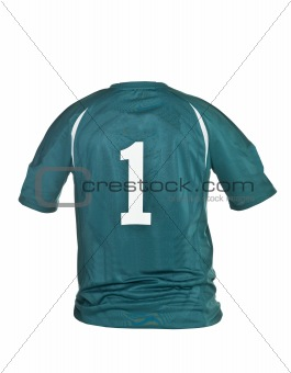Football shirt with number one