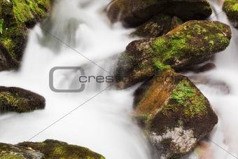 Waterfall autumn brook
