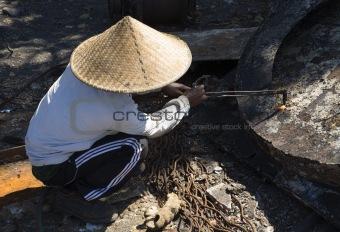 Flame cutting