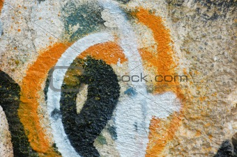 weathered wall graffiti