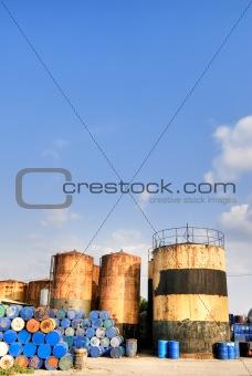 City industrial scenic