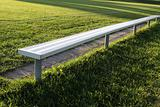 Brightly Lit Soccer Bench