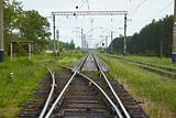 Railway lines with switch