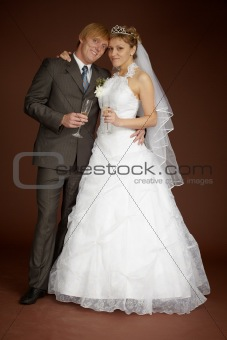 Bride and groom together