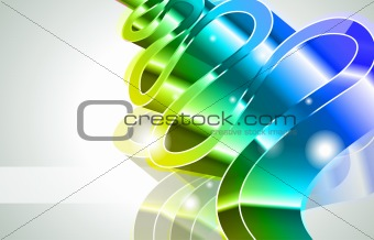Abstract Glow of Lights with Brilliant colours