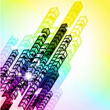 Grungy Colorful Arrow Rainbow Background