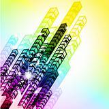 Grungy Colorful Arrow Rainbow Background