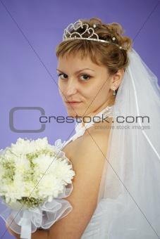 Bride looks at us - portrait