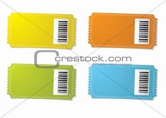 Ticket stub barcode