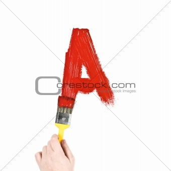 Painting Letter A