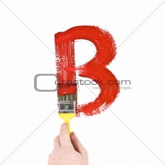 Painting Letter B