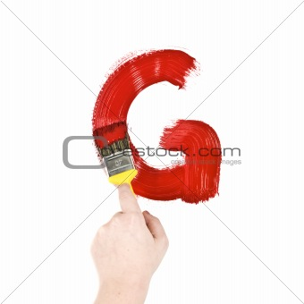 Painting Letter G