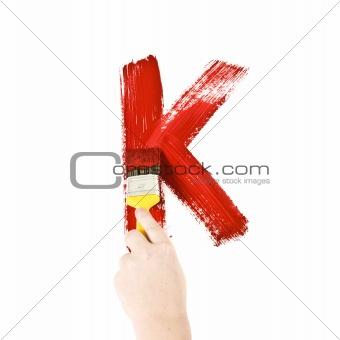Painting Letter K