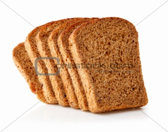 fresh  bread with slices