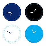Different colors clock set