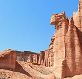 Sandstone cliff in Talampaya, Argentina.