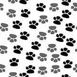 Seamless footprint pattern