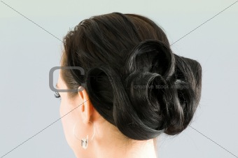 Close up of woman hair cut