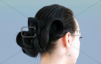 Close up of female haircut
