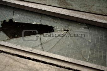 broken glass pieces