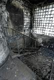 High Dynamic Range Image of a Burned Out building, stair