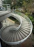 beautiful spiraling stairs